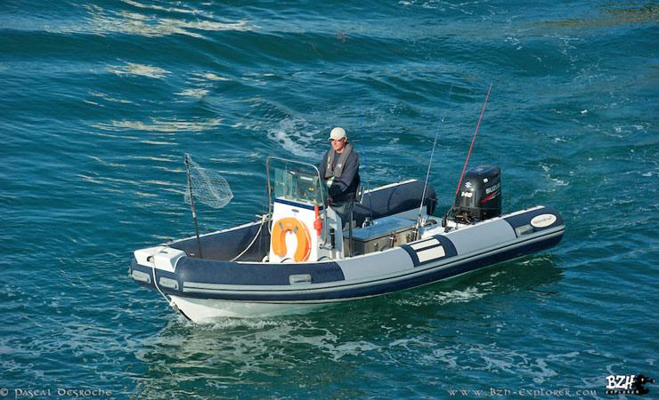 Sortie pêche, semi rigide northstar