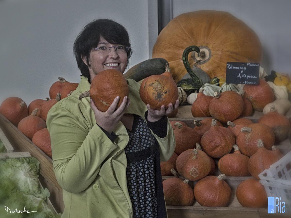 Le marché à la ferme, légumes de la Ria