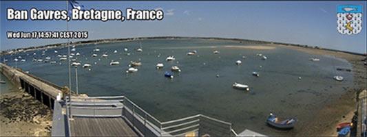 Webcam sur la Petite Mer de Gâvres